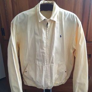 POLO RALPH LAUREN Soft Yellow Harrington Jacket M